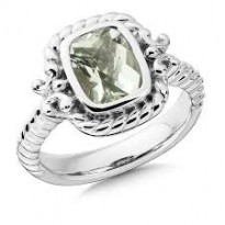 Colore Green Amethyst Ring