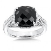 Colore Black Onyx and Diamond Ring