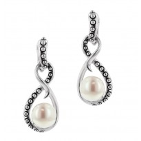 Sterling Silver 8.5-9MM White Freshwater Cultured Pearl Earrings