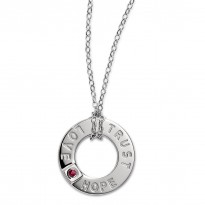 ELLE Sterling Silver 18 in. Necklace Love, Hope, Trust