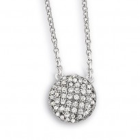 ELLE Sterling Silver 16 in. + 2 in. Micro Pave CZ Necklace