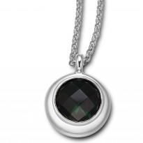 ELLE Sterling Silver 20 in. + 2 in. Created Green Quartz Necklace