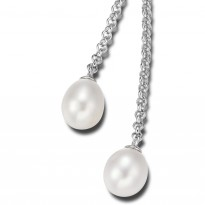 ELLE Sterling Silver 16 in. + 2 in. Pearl Necklace