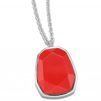 ELLE Sterling Silver 30 in. + 2 in. Created Coral Necklace