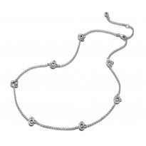 ELLE Sterling Silver 16 in. + 2 in. Necklace