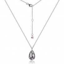 ELLE Sterling Silver 16 in. + 2 in. Amethyst CZ Necklace