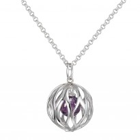 ELLE Sterling Silver 30 in. Amethyst CZ Necklace
