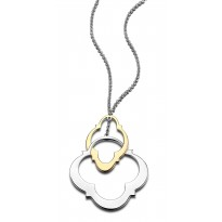 ELLE Sterling Silver & 14kt Gold Plated 16 in. + 2 in. Necklace