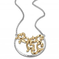 ELLE 18 in. + 2 in. Sterling Silver & 14kt Gold Plated Necklace