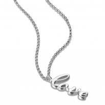 ELLE Sterling Silver 18 in. + 2 in. LOVE Necklace
