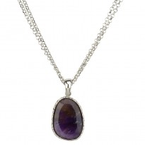 Frederic Duclos Sparkle Double Strand Amethyst Necklace
