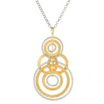 Frederic Duclos Textured Ooh's Necklace