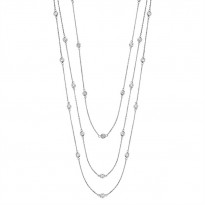 Tru-Reflection Triple Strand Diamond Necklace