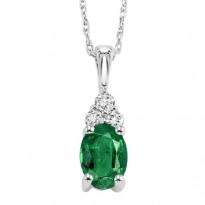 14K Emerald Pendant  (Matching Ring & Earrings Available)