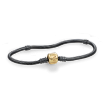 Oxidize Bracelet and Chain with 14k Pandora Clasp