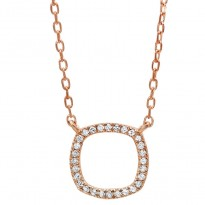 Dainty Delicacies 14 Karat Rose Gold Diamond Pendant
