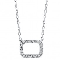 Dainty Delicacies 14 Karat White Gold Diamond Pendant