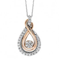 Gold and Silver Diamond Pendant