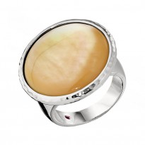 ELLE Sterling Silver Gold MOP Ring