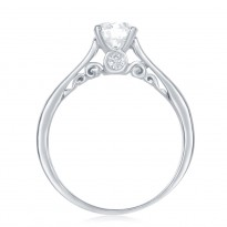Happy Solitaire Diamond Engagement Ring