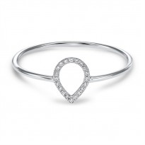 Dainty Delicacies 14 Karat White Gold Diamond Ring