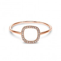 Dainty Delicacies 14 Karat Rose Gold Diamond Ring
