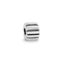 Silver Ribbed Clip
