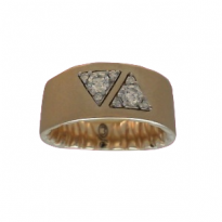 M Fit Yellow Gold Diamond Triangle Wedding Band