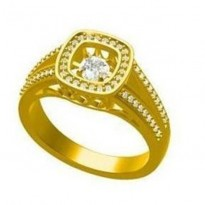 14K Diamond Rhythm Of Love Ring 1/2 ctw