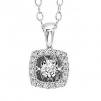 14K Diamond Pendant 1/7 ctw