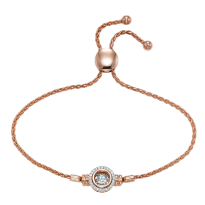 14 Karat Rose Gold Rhythm of Love Diamond Bracelet
