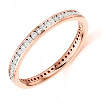 Round and Baguette Diamond Eternity Ring