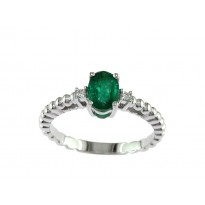 Effy Emerald and Diamond Ring