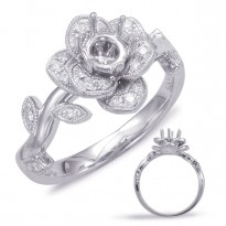 Floral Collection Diamond Bridal Set