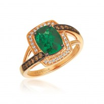 Le Vian Emerald and Chocolate Diamond Ring