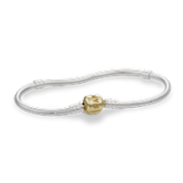 S.S. Bracelet and Chain with 14K Pandora Clasp