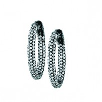 30MM OVAL PAVE INSIDE OUT