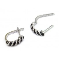 Effy Black & White Diamond Earrings