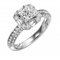 14K Diamond 7/8 ctw Engagement Ring