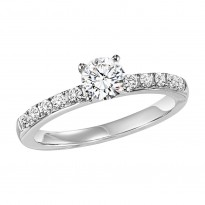 14K Diamond 1/5 ctw Engagement Ring