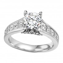 14K Diamond 1 1/2 ctw Engagement Ring