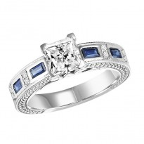 Bridal Bells Diamond and Sapphire Engagement Ring