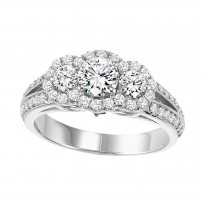 14K Diamond 1 ctw Engagement Ring