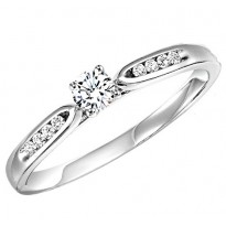 14K Diamond 1/4 ctw Engagement Ring