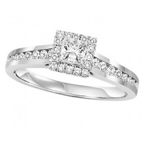 14K Diamond 3/4 ctw Engagement Ring