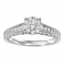 14K Diamond 1/2 ctw Engagement Ring