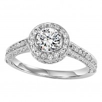 14K Diamond 3/8 ctw Engagement With 3/4 ct Center Diamond