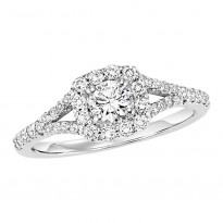 14K Diamond 3/8 ctw Engagement Ring