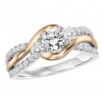 14K Diamond 5/8 ctw Engagement Ring