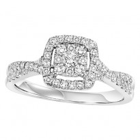 14K Diamond 1/2 ctw Engagement Ring Complete